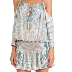 Blue Life Shirred Waist Halter Dress